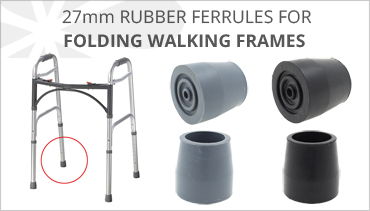 FERRULES FOR FOLDING WALKING FRAMES